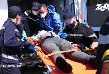صورة وحدات الإنقاذ البحري تنقذ 39 مهاجرا سريا قرب سواحل طانطان