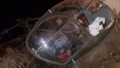 """صورة سقوط طائرة هليكوبتر إسبانية  بدوار """"الصفاصفة"""" ضواحي  مدينة أصيلا"""