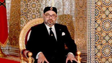 صورة جلالة الملك محمد السادس يعزي أسرة المرحوم أحمد أمسروي بلحسن