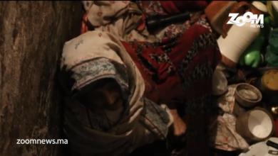 صورة زووم على المجتمع.. صادم لالة يامنة بأكادير تعيش بكهف و تأكل الديدان و الفئران من جسمها