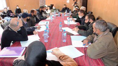 صورة المصادقة بالإجماع على جدول أعمال دورة فبراير العادية للمجلس الترابي لتيزي ن تاست