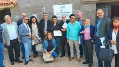 صورة إعادة انتخاب رشيد الصباحي رئيسا لنادي الصحافة بالمغرب