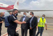 صورة المنتخب الجزائري لكرة القدم يصل إلى مراكش