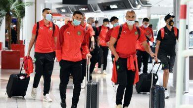 صورة المنتخب الوطني يتأهب لمغادرة كوناكري نحو المغرب